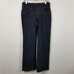Jag Jeans Pull On High Rise Boot Cut Dark Wash 12